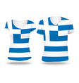 Flag shirt design of Greece vector image vector image