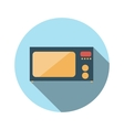 Flat Design Concept Microwave With Long Shad vector image vector image