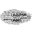 gains word cloud concept vector image vector image