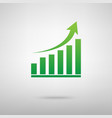 Growing graph Green icon vector image vector image