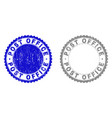 grunge post office textured watermarks vector image vector image