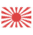 halftone dot japanese rising sun icon vector image