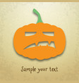 halloween card with angry pumpkin vector image vector image