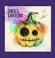 halloween hand drawing pumpkin jack lantern vector image vector image