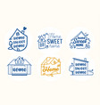 home sweet quotes creative lettering vector image vector image