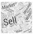 How to Sell Your Written Articles Word Cloud vector image vector image