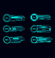 hud futuristic loading bars sci fi user interface vector image