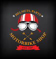 label motorbike shop vector image vector image