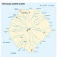 map tristan da cunha island in atlantic ocean vector image vector image