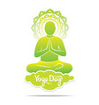 men doing yoga meditation position vector image vector image