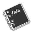 Notebook note diary vector image