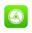 objective icon digital green vector image vector image
