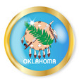 oklahoma flag button vector image vector image