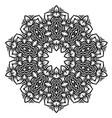 ornamental oriental geometric ornament vector image vector image