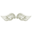 Pair of white wings vector image vector image