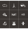 Paris icon set vector image vector image