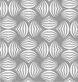 Perforated twisted striped circle pin will vector image vector image
