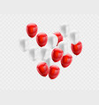 red white balloons love valentines day concept vector image vector image