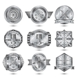 Repair Workshop Metal Emblems Set vector image vector image