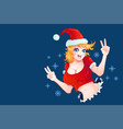 santa girl for christmas vector image vector image