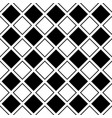seamless abstract black and white square grid vector image vector image