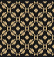 seamless pattern in oriental style black and gold vector image vector image