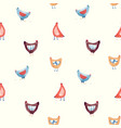 seamless pattern with nice cute watercolor vector image vector image
