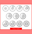 set pie chart icons circle diagram collection vector image vector image