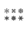 snowflakes collection black snowflakes isolated vector image vector image