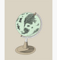 the concept of globes travel in many countries vector image