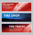 tire tread tracks banners motorcycle car and vector image vector image