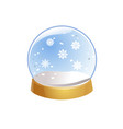 transparent snow globe empty glass sphere with vector image vector image