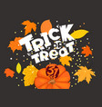 trick or treat holiday banner template vector image vector image