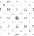 two icons pattern seamless white background vector image vector image