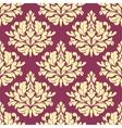 Vintage purple damask design vector image vector image