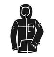 winter ski jacket icon simple style vector image