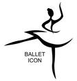 ballet icon vector image