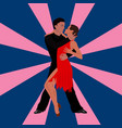 salsa dancing couple man and woman in vector image