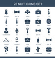 25 suit icons vector image vector image