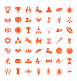 49 team icons vector image vector image