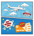 air tickets sale comic style banners vector image vector image