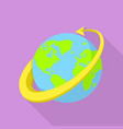 all around the globe icon flat style vector image vector image