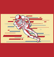 american football sign a player running with the vector image