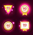 anniversary 90 icon vector image vector image