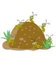 anthill with ant vector image