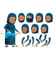 arab muslim old woman senior person aged vector image vector image