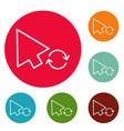 arrow cursor loading icons circle set vector image vector image