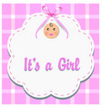 baby girl gender reveal vector image vector image