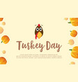 background turkey day with pumpkin vector image vector image