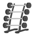 barbell stand cartoon vector image vector image